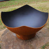 Manta Ray Fire Pit Bowl - A shown top view in the wood burning option.