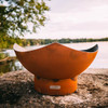 Manta Ray Fire Pit Are Bowl - Product photo shown in the natural rust 1/4 inch carbon steel.