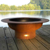 Saturn fire pit bowl by Fire Pit Art