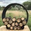 Orbit steel log rack shown in a 38 inch diameter.