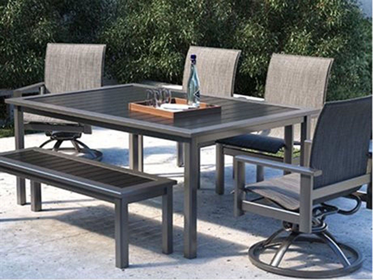 Tremendous Homecrest Elements Aluminum Dining Set Uwap Interior Chair Design Uwaporg
