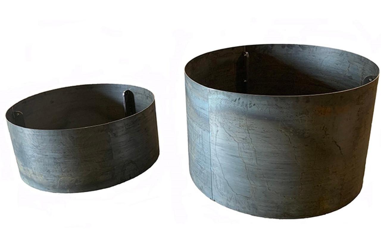 corten steel planters diy