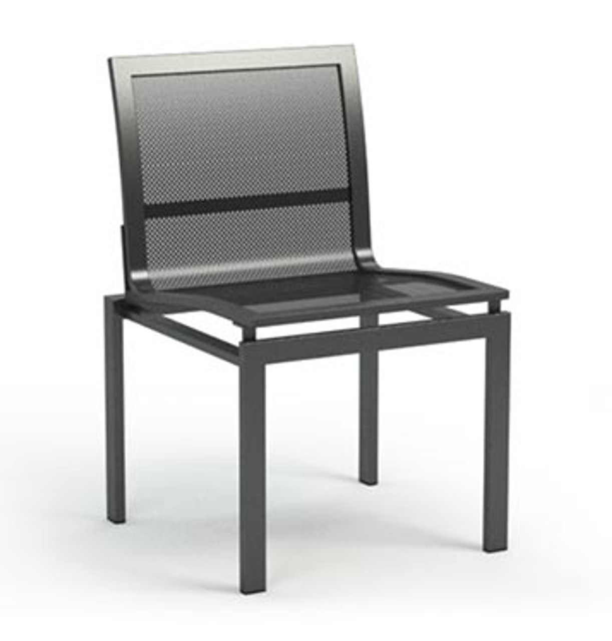 Swell Homecrest Allure Mesh Armless Cafe Chair Stack Able Interior Design Ideas Tzicisoteloinfo