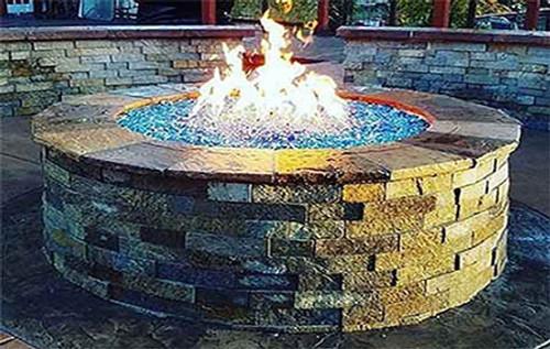 DIY backyard gas fire pit kits
