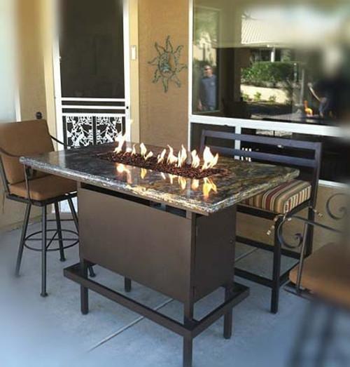 bar fire pit table rh yardcouture com agio bar height fire table bar height fire pit dining table