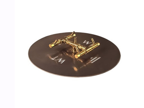 "60K BTU Crossfire Burner With 18"" Circular Plate:  As shown 18"" aluminum fire pan and 60K BTU crossfire brass burner."
