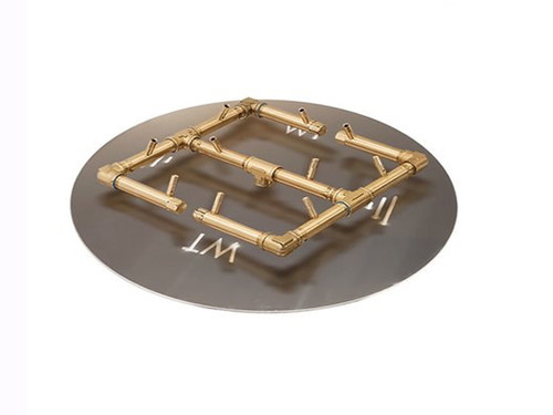 "120k BTU Crossfire Brass Burner: As Shown Crossfire 120K BTU Burner and 24"" Aluminum Circular Plate"