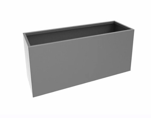 Steel Rectangular Box Planters:  Picture shown in Powder Coated  Galvannealed Steel Graphite Finish.
