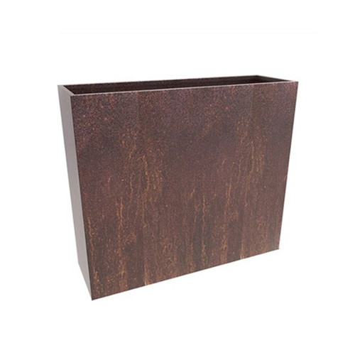 Narrow Steel Planter Box- Slim Steel Planter as shown in Corten steel natural rusted finish.