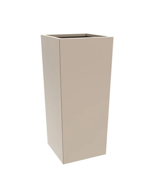 TALL STEEL COLUMN PLANTER- As shown flax powder coated Galvaneal steel.