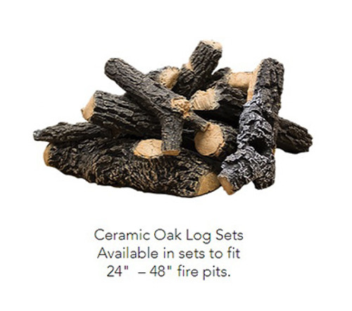 Ceramic Oak Log Set: Realistic heavy duty ceramic log set heat resistant, imitation pine logs for your fire pit feature.