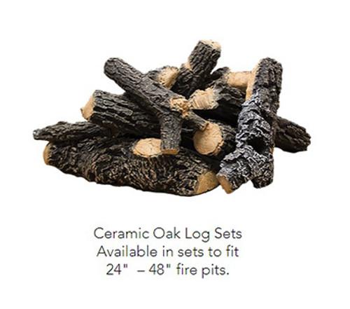 Ceramic Oak Log Set: Realistic heavy duty ceramic log set heat resistant, imitation pine logs for your fire pit feature.