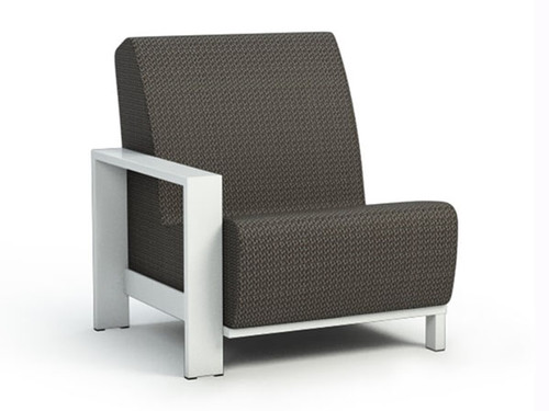 Homecrest Aluminum Grace Air Right Arm Chat Chair - As shown glacier powder coated aluminum frame and the cedar Sensation Sling Fabric.