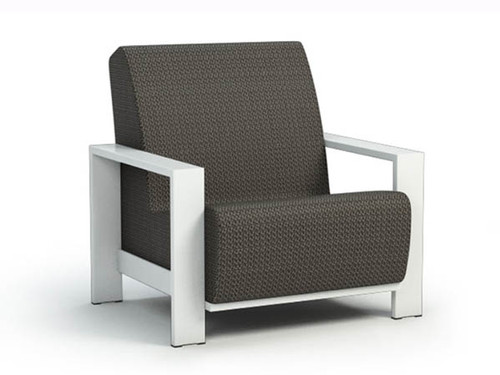 Homecrest Grace Air Aluminum Chat Chair- As shown sensation sling cedar fabric and glacier powder coated aluminum frame.