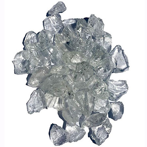 Elements Fireglass fireplace crystal clear fire glass: As shown 1-1/2 inch clear tempered glass rocks.