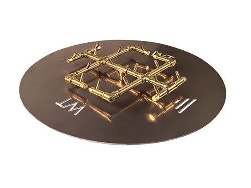 """180K BTU Crossfire Burner With 30"""" Plate: As shown 30"""" Aluminum Fire Plate and 180K BTU Crossfire All Brass Burner."""