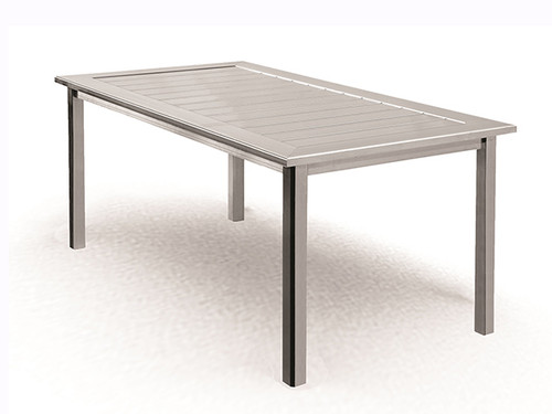 Homecrest Dockside Aluminum Rectangle Outdoor Dining Table