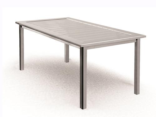 Homecrest Dockside Aluminum Rectangle Outdoor Dining Table