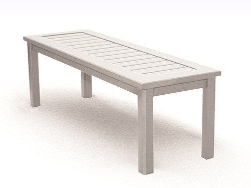 Homecrest Dockside Aluminum Side Bench- Slat Top Coastal Design.
