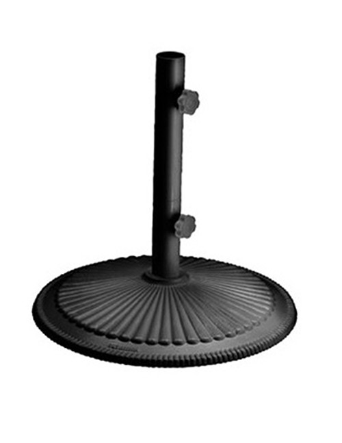 Homecrest Outdoor Umbrella Stand Cast Iron Base- As shown in powder coated black finish.