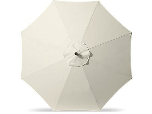 Homecrest Outdoor All Aluminum Umbrella- As shown in canvas white Sunbrella fabric, crank - lift  and automatic tilt.