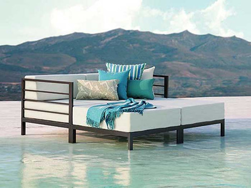 Homecrest Allure Modular Outdoor Aluminum Lounge Set Product Photo .