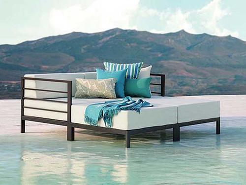Homecrest Allure Modular Outdoor Aluminum Lounge Set Product Photo .