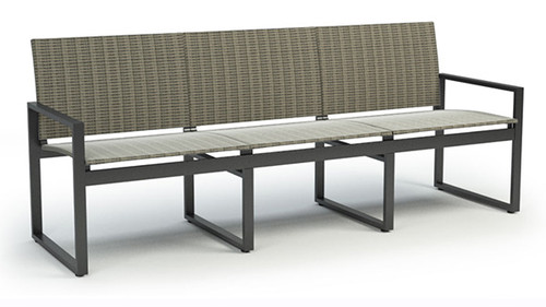 Homecrest Outdoor Allure Sling Sofa: As Shown Bossa Nova Sling Fabric Carbon Aluminum Frame
