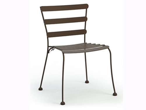 Homecrest Wynn Metal Cafe Chair; As shown In Cognac Powder Coated Finish