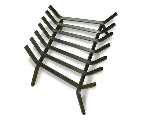Standard-Tapered-Fireplace-Fire-Pit-Grate-No-Char-Guard: As Shown Carbon Steel Black Finish