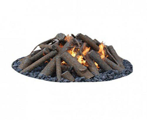 Warming Trends Outdoor Steel Log Set Fire Feature For Fire Pits