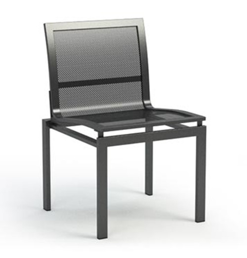 Homecrest Allure Mesh Outdoor Metal Cafe Chair: As shown metal mesh and frame in carbon grey finish.