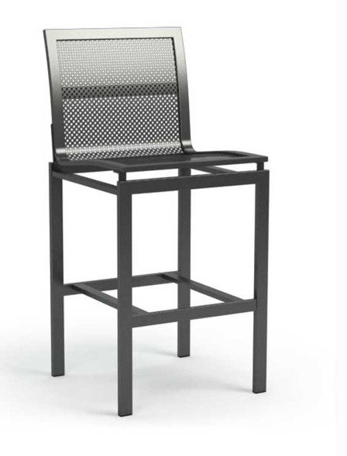 homecrest Allure Mesh Armless Outdoor Metal Bar Chair: As shown in the carbon grey finish.