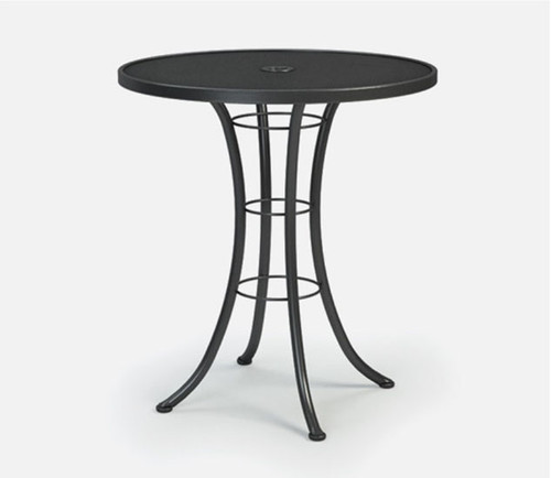 "Homecrest 36 Inch Round Mesh Bar Table: As shown round mesh top with umbrella hole 40"" height."