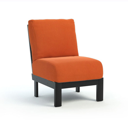 Homecrest_Elements_Modular_Armless_Chat_Chair_Outdoor_Seating_Canvas_Rust_Onyx_Black