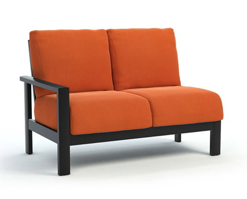 Homecrest_Elements_Modular_Right_Arm_Loveseat_Outdoor_Seating_Canvas_Rust_Onyx_Black