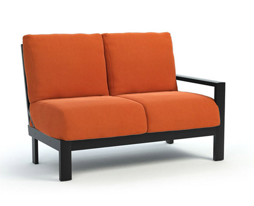 Homecrest_Elements_Modular_LeftArm_Loveseat_Outdoor_Seating_Canvas_Rust_Onyx_Black
