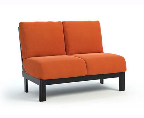 Homecrest_Elements_Modular_Armless_Loveseat_Outdoor_Seating_Canvas_Rust_Onyx_Black