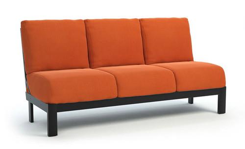 Homecrest_Elements_Modular_Armless_Sofa_Outdoor_Seating_Canvas_Rust_Onyx_Black
