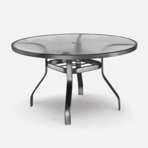 Homecrest 48 inch glass table: As shown with the onyx black aluminum finish.