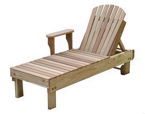 Creekvine Design American Forest Chaise Lounge: As shown in natural untreated Red Cedar.
