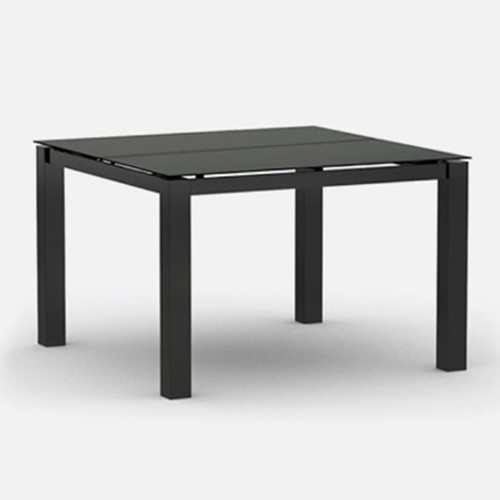 Homecrest 44inch Mode Dining Table:  Carbon base and Storm top powder coated aluminum finish.