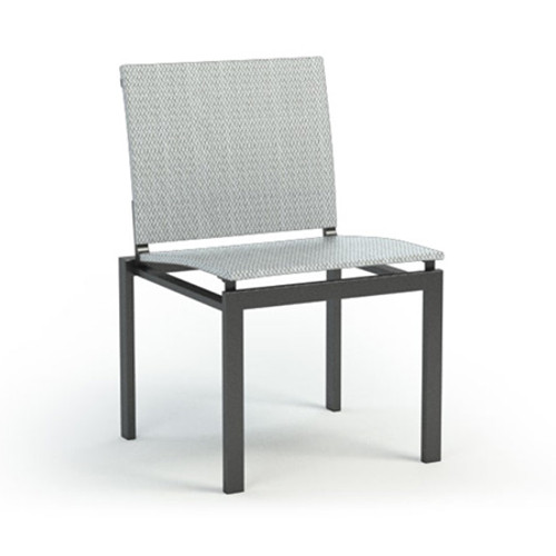 Homecrest  Allure Sling Aluminum Armless Cafe  Chair: As shown with the Cameo Sling Fabric and the Carbon Powder Coated Frame.