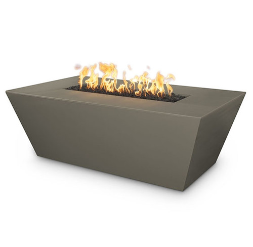 The Angelus Concrete Gas Fire Pit by the Outdoor Plus Company: As shown in GFRC concrete in the smooth Ash finish.