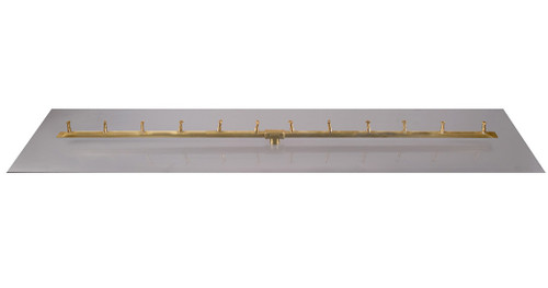 The Outdoor Plus Linear Bullet Brass Burner With Flat Aluminum Pan: As shown option BFP60RT
