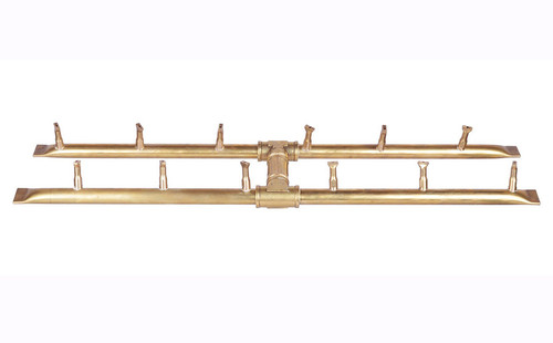 The Outdoor Plus H-Bullet Burner: Gas burner shown all brass OPT-B24BH