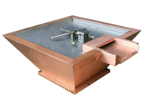 BOBE WATER AND FIRE COPPER WATER/FIRE POT: As shown Bobe water and fire fire pit in copper with the Perfect Flame Gas Burner.