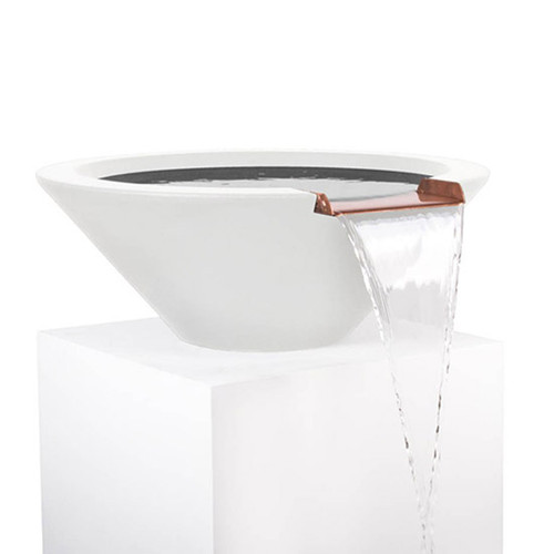 The Outdoor Plus-GFRC-Concrete-Cazo-Water-Bowl-Limestone