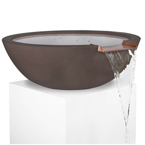 The Outdoor Plus Sedona Water Bowl Fountain: As shown in the GFRC chocolate brown finish.