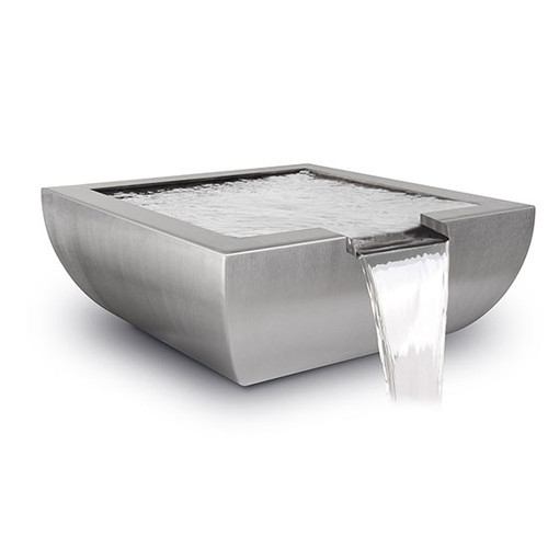 The Outdoor Plus Avalon Water Bowl: As shown in the stainless steel metallic finish.